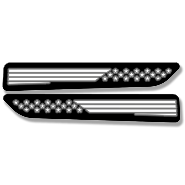 American Flag Hood Badges - Illuminated - Fits 2019-2020 Ram 1500® Sport