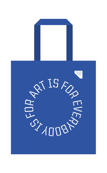 'Art is for Everybody' tote bag