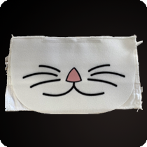 cat print sustainable PPE reusable protective Face mask