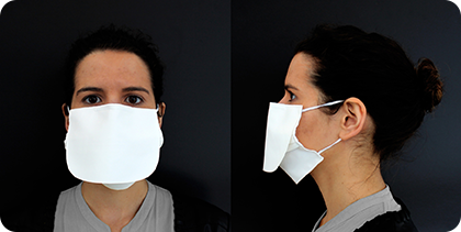 sustainable PPE reusable Protective Face Mask with extra flap protection