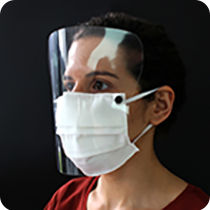 sustainable reusable PPE face mask with protective visor