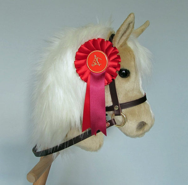 Rosette, show ribbon - Red satin