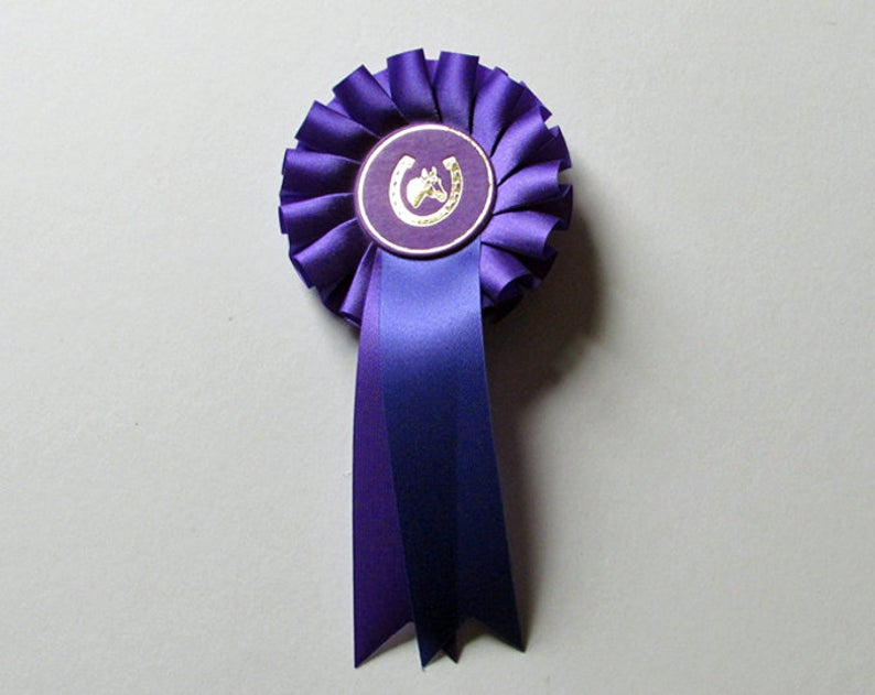 Rosette, show ribbon - Purple satin