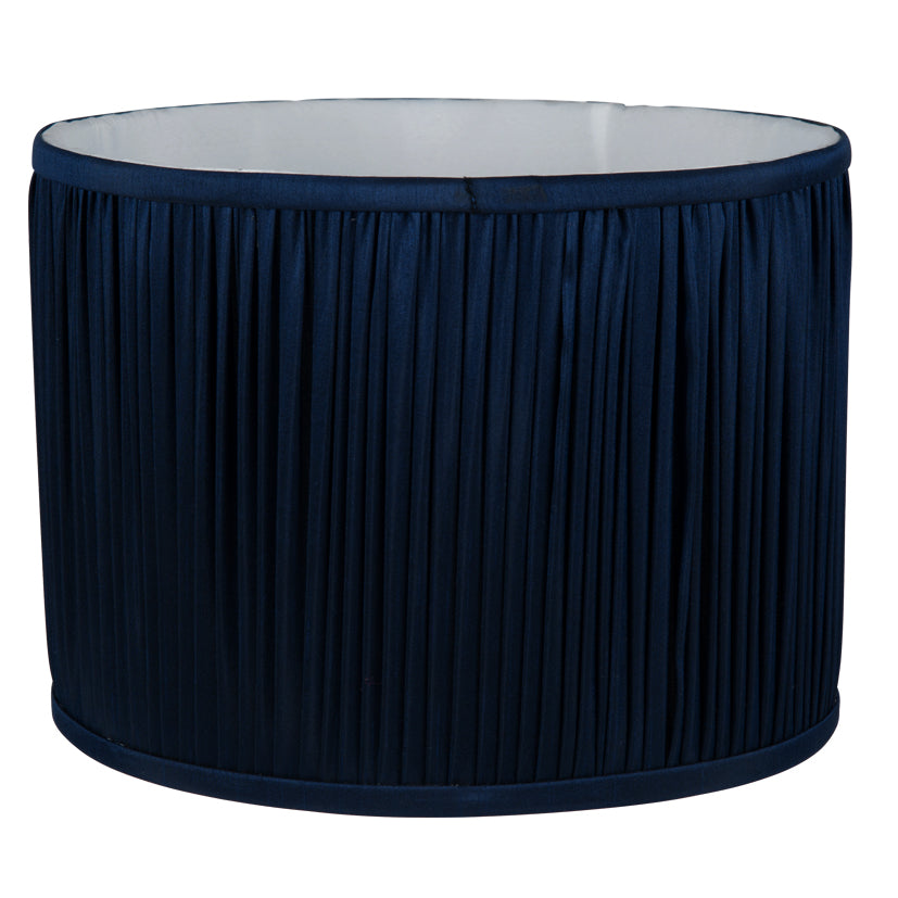 Luna Dark Blue Pleated Shade