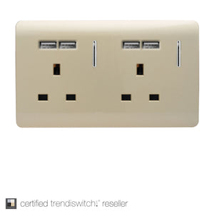 Double USB Socket : 2 Gang