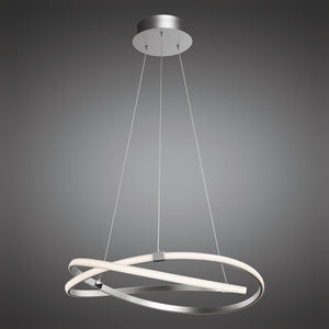 Eternity Silver LED Pendant