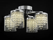Load image into Gallery viewer, Etta Crystal Semi Flush
