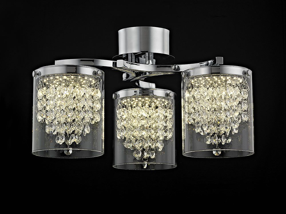 Etta Crystal Semi Flush