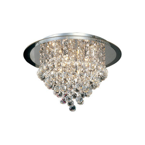 Evelyn Crystal Semi Flush