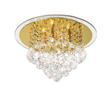 Load image into Gallery viewer, Evelyn Crystal Semi Flush