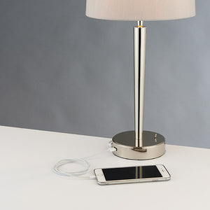 Lucie USB Table Lamp