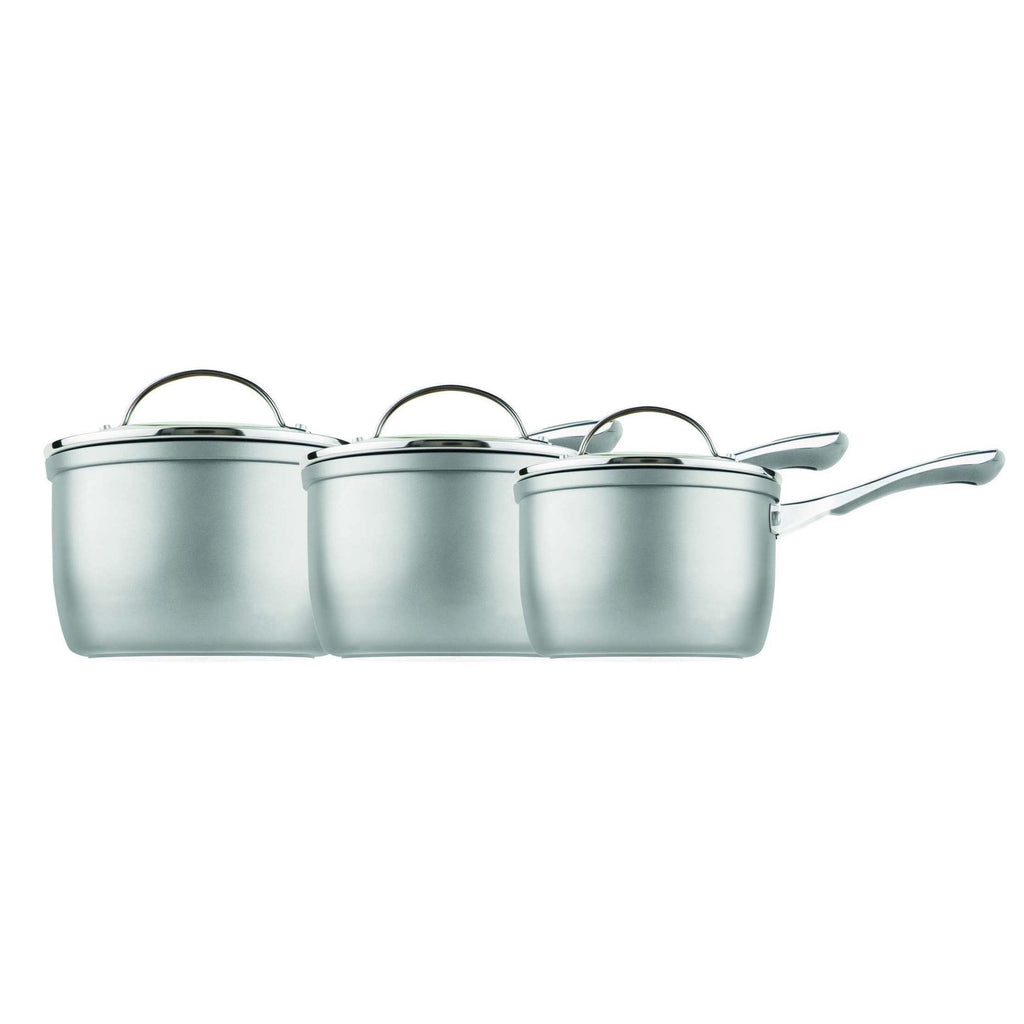 Prism Non Stick 3 Piece Cookware Set-Silver