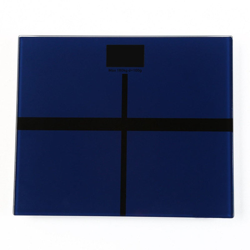 Digital Smart Bathroom Scale Weighing Scale Dark Blue 25 x 25centimeter