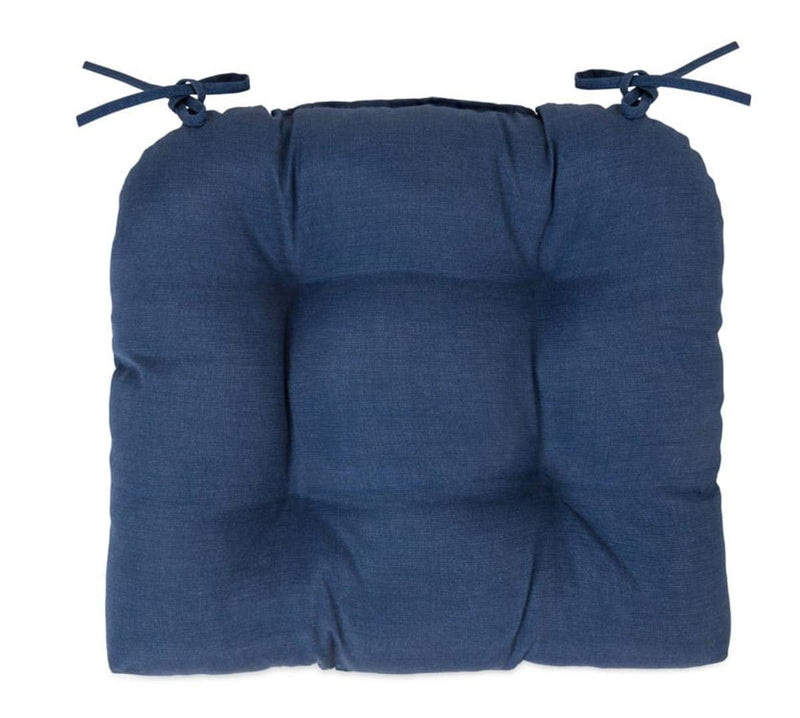 Arden Wicker Chair with Cushion Sapphire Polyester Blue