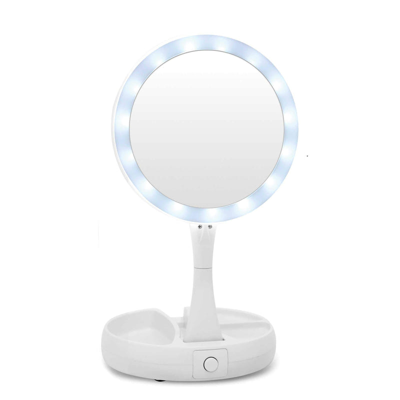 Foldable LED Makeup Mirror White