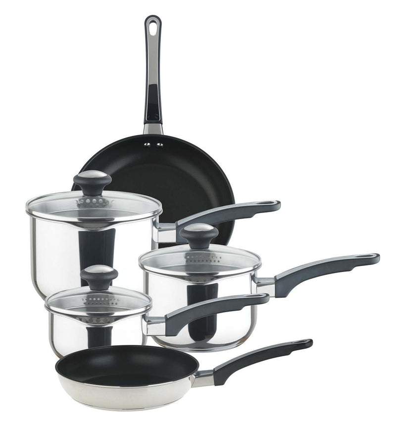5 Piece Everyday Straining Pan Set