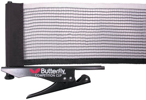Butterfly Competition Clip Table Tennis Net & Post Set in Carry Bag