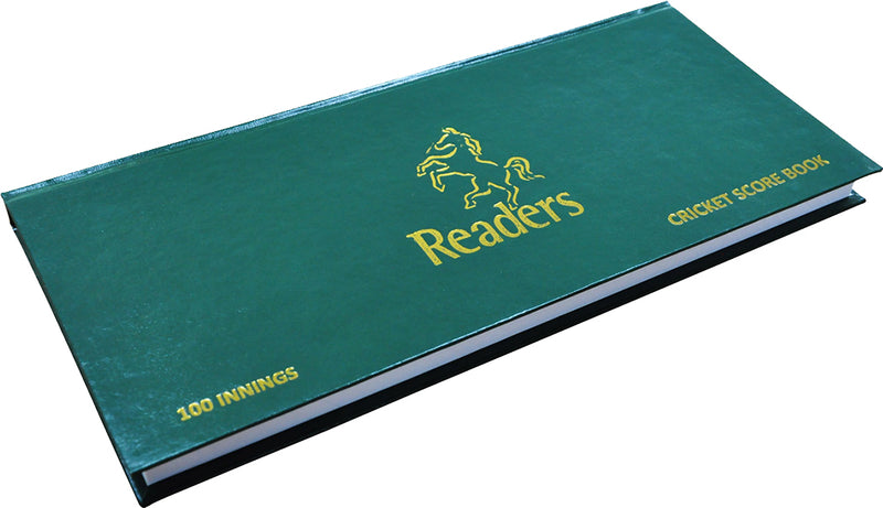 Readers Cricket Scorebook Red/Yellow