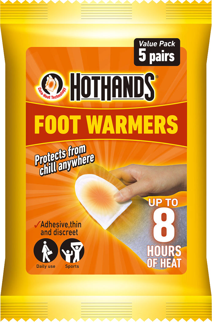 Hot Hands Foot/Toe Warmers Pack of 5 Pairs