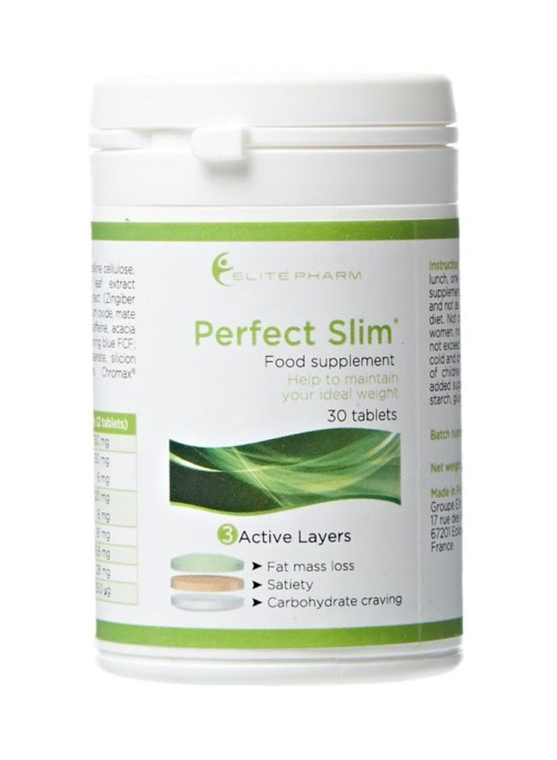 Elitepharm Pack Of 30 Perfect Slim Food Supplement Tablets