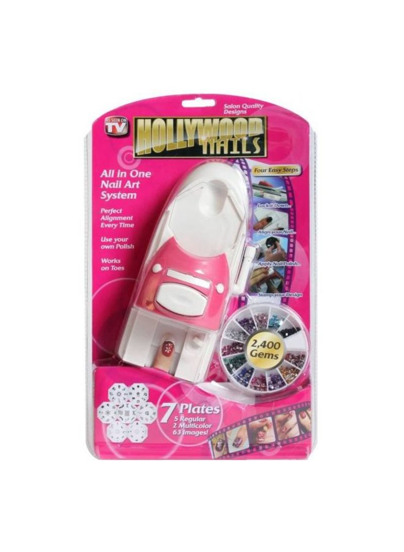 Hollywood All-In-One Nails Art System Blue/Purple/Yellow