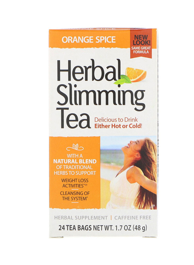 21st CENTURY Orange Spice Herbal Slimming Tea 24 Tea Bags