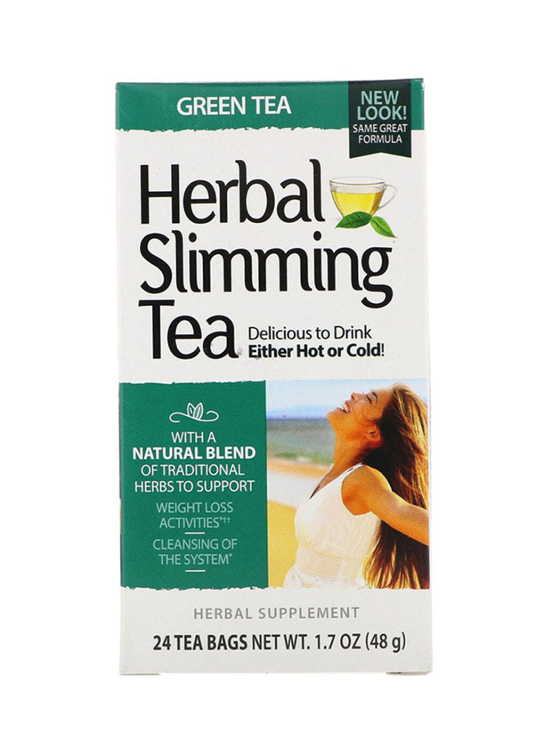 21st CENTURY 24-Piece Herbal Slimming Green Tea Bags