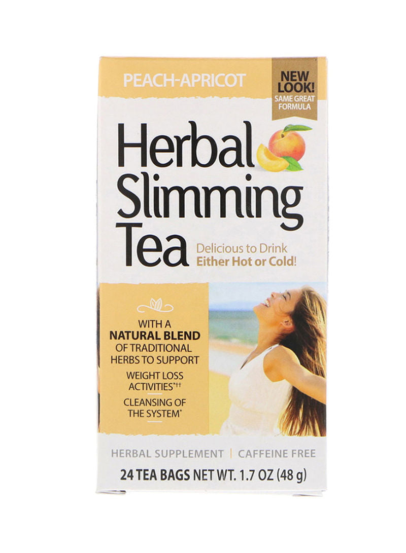 21st CENTURY Herbal Slimming Peach-apricot Tea Bags