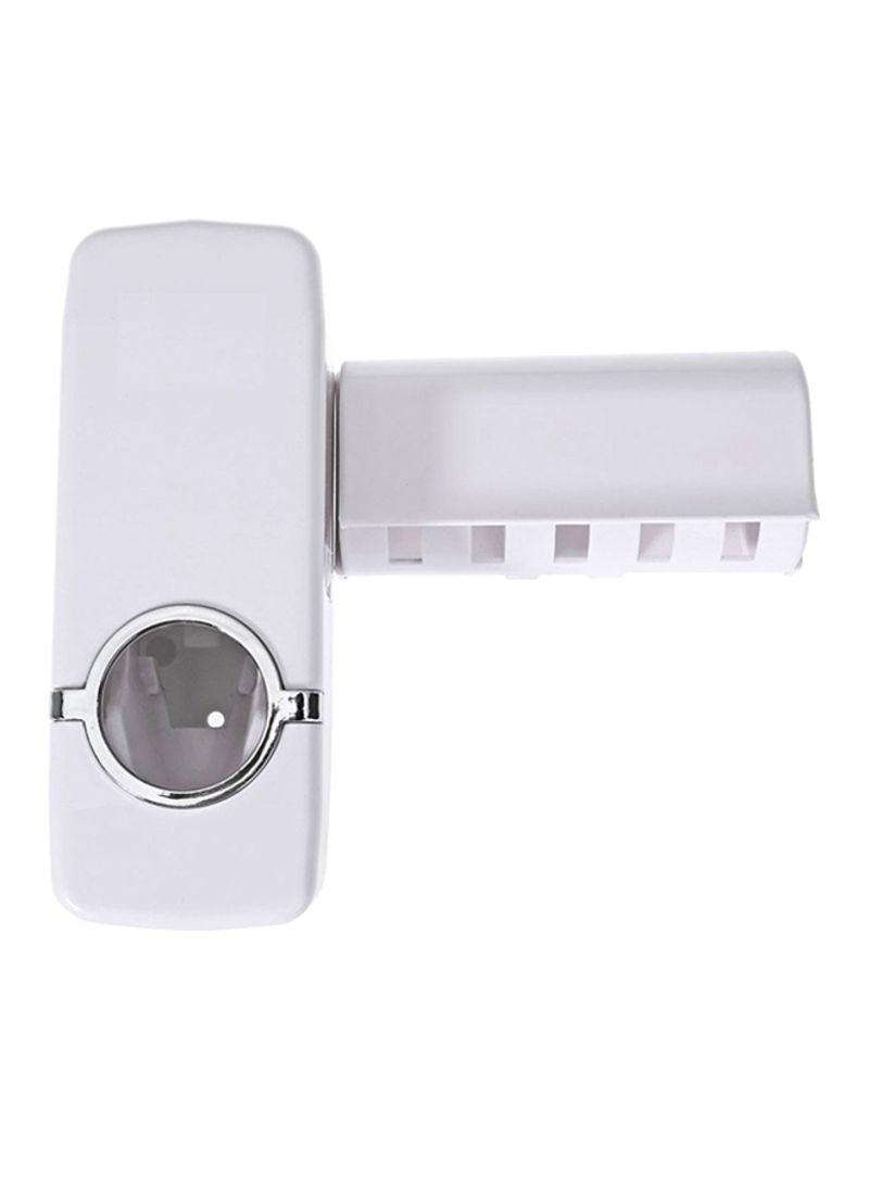 Automatic Toothpaste Dispenser And Toothbrush Holder White 155x60x60centimeter