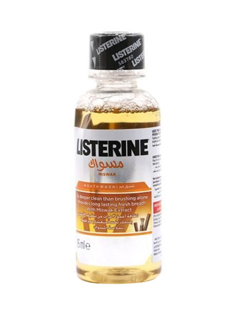 Listerine Miswak Mouthwash Yellow 95ml
