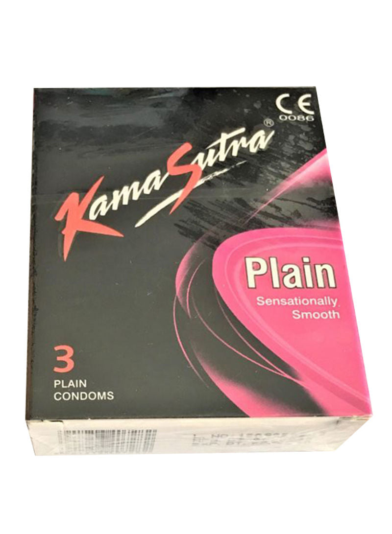 Kamasutra 3-Piece Plain Condom Pack