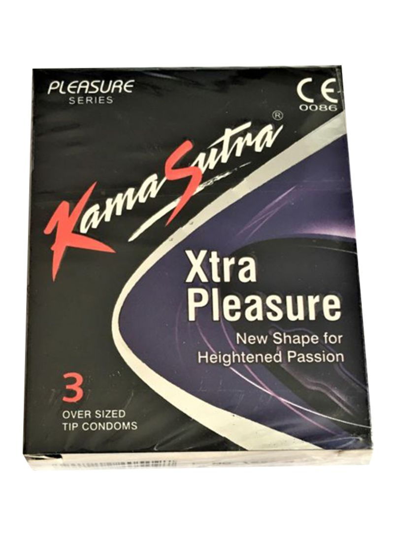 Kamasutra 3-Piece Xtra Pleasure Condom Pack