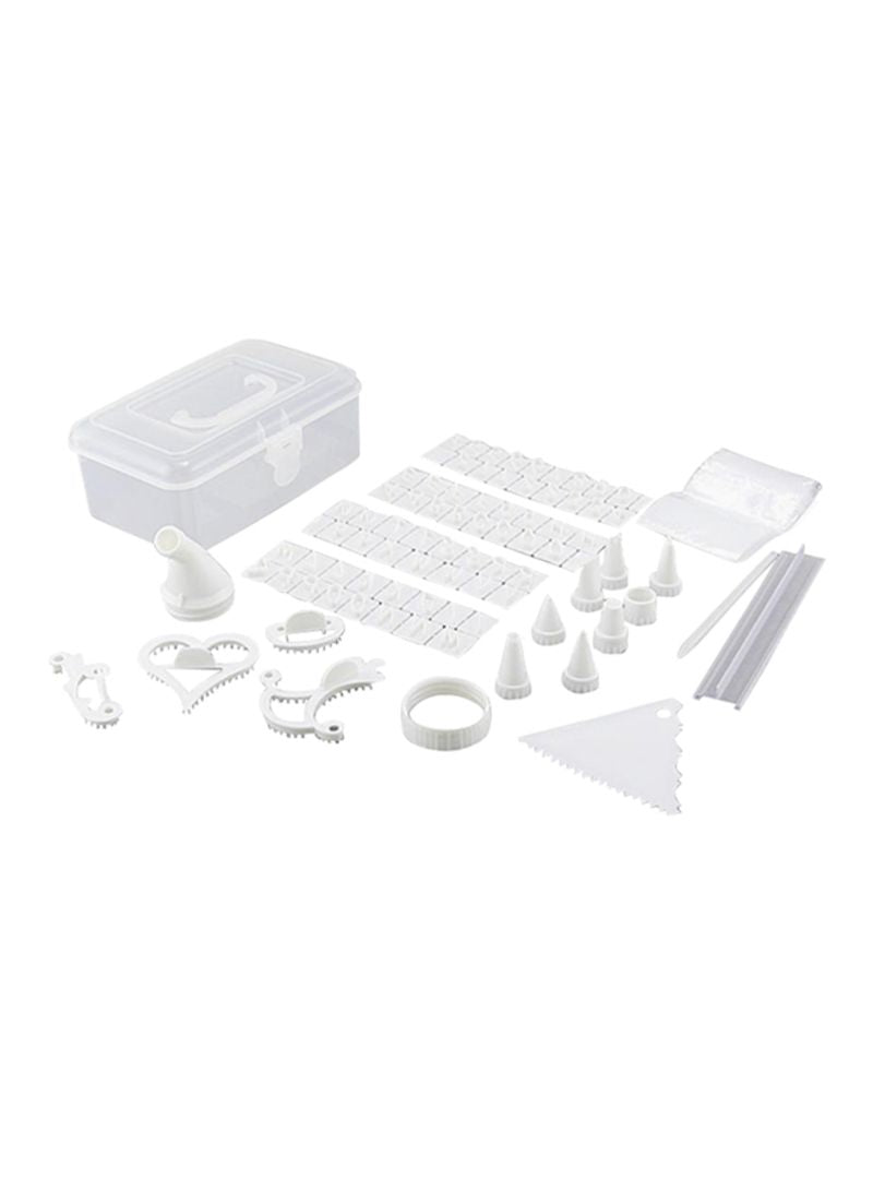 Generic 100 Piece Cake Decorating Kit White