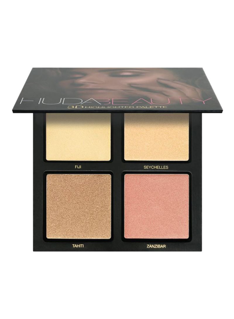 3D Hightlighter Palette Golden Sand