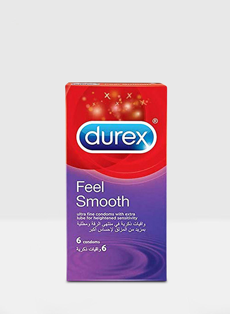 Durex Feel Smooth Condom Pack of 6