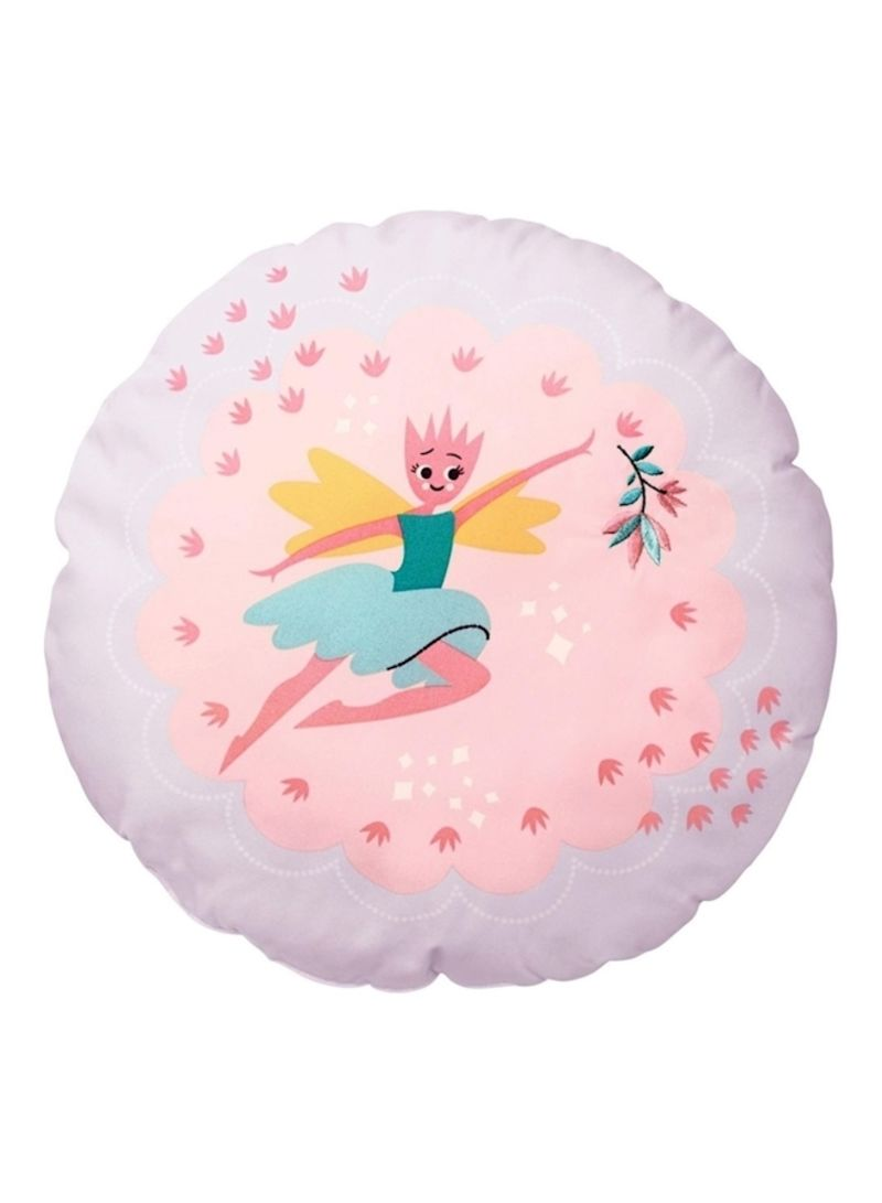 Fairy Printed Cushion Polyester Pink/Blue/White