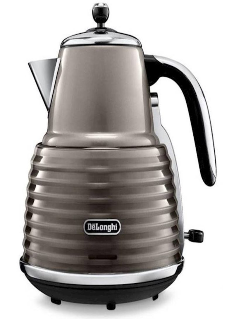 DeLonghi Electric Kettle 1.5L KBZ3001.BG Grey/Black