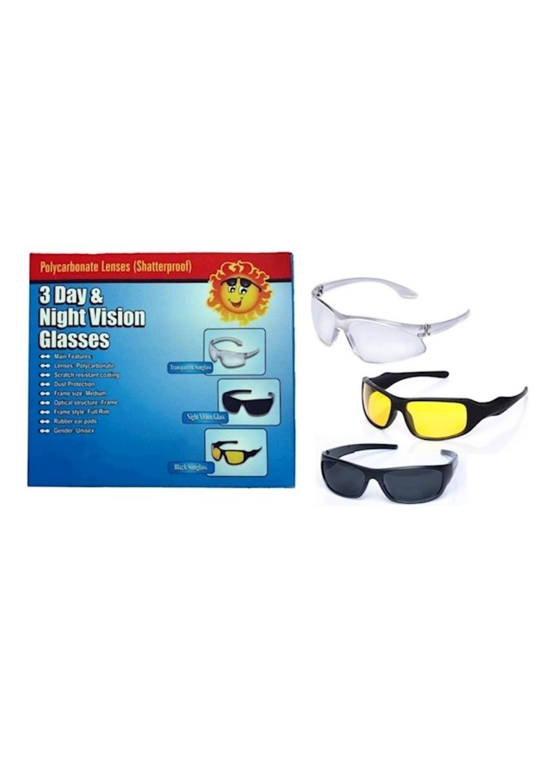 Generic Pack of 3 Day And Night Vision Glasses