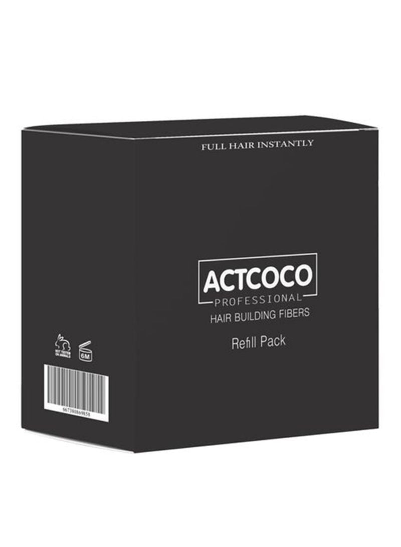 Actcoco Hair Building Fiber Refill Pack Dark Brown 25g