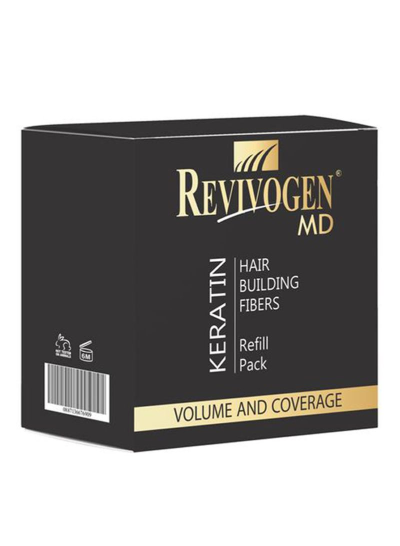 Revivogen Hair Building Fiber Refill Pack Black 10g