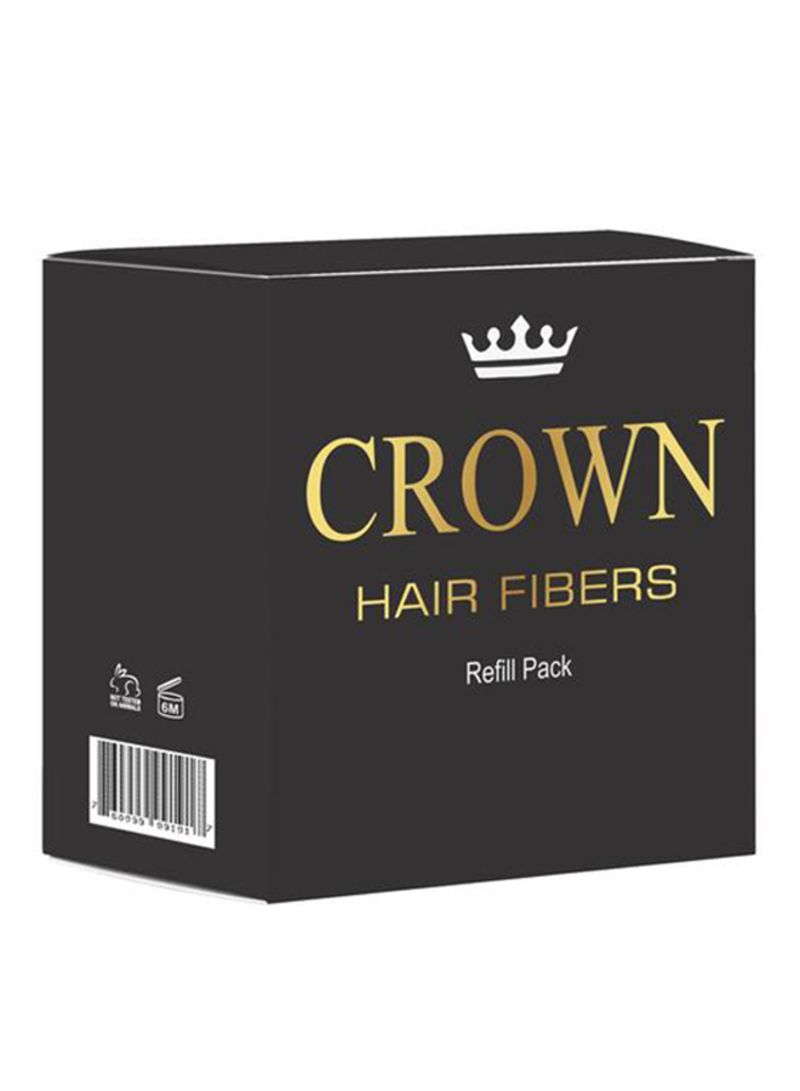 Crown Hair Building Fiber Refill Pack Black 100g