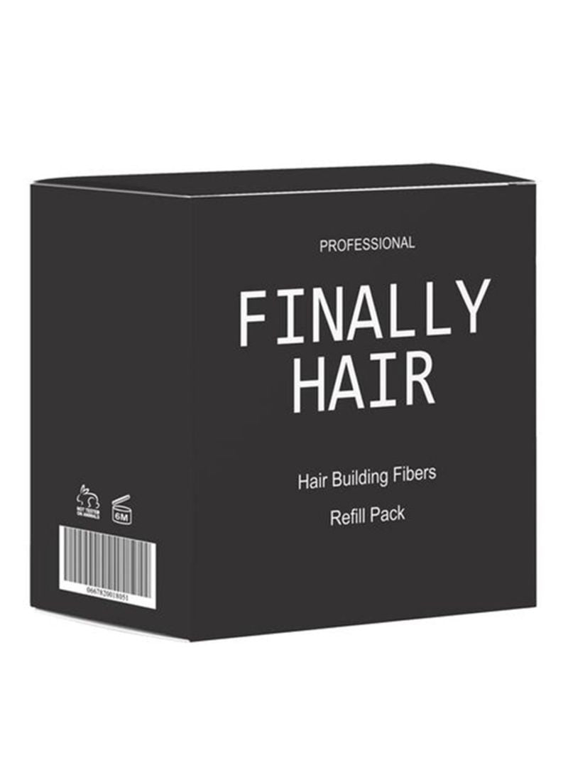 Finally Hair Hair Building Fiber Refill Pack Black 50g