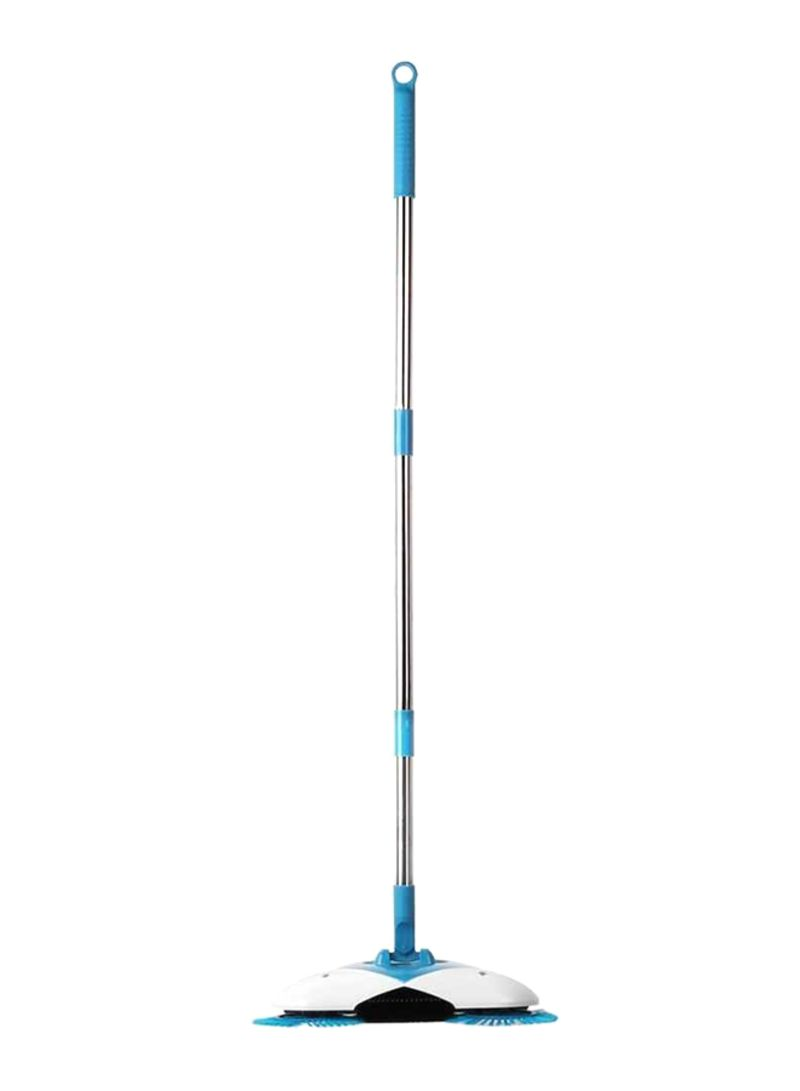 Convenient Floor Spin Broom Blue/White