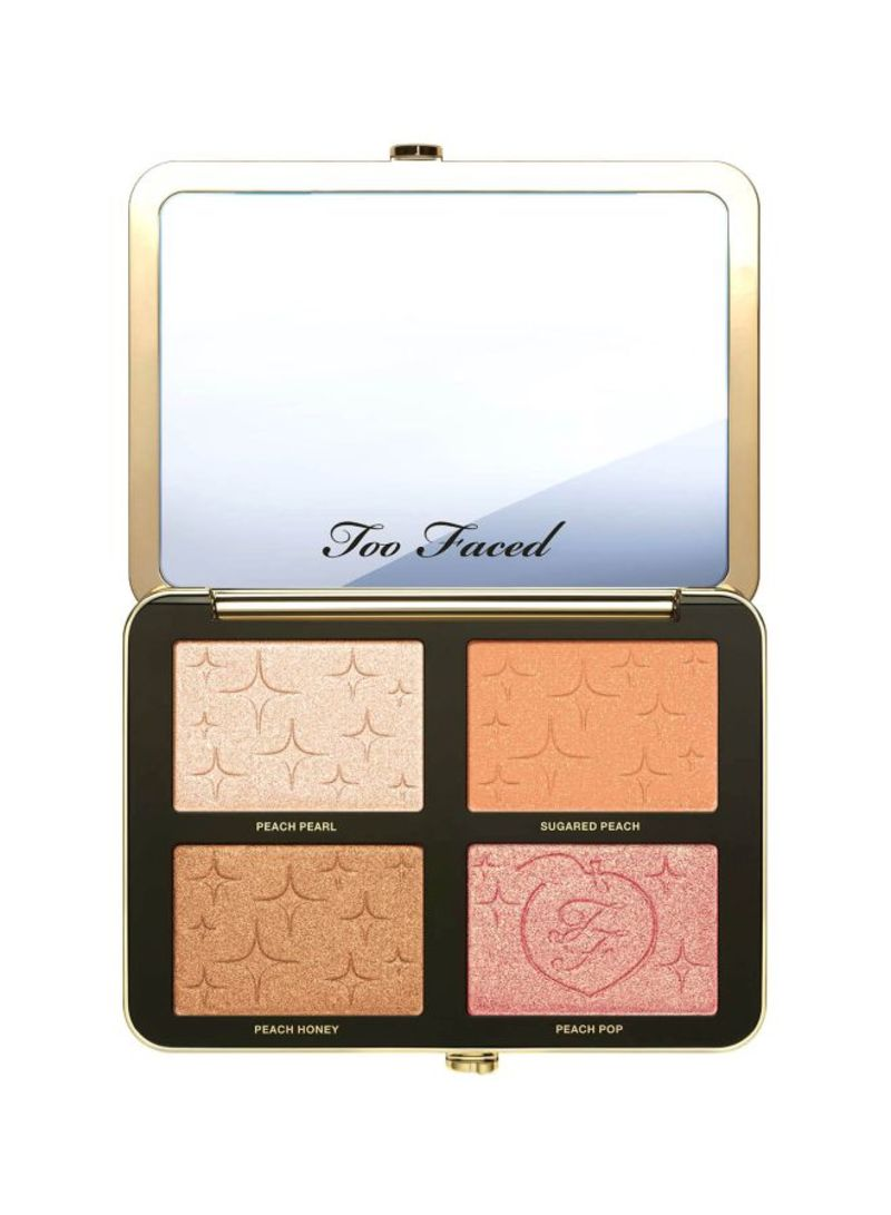 Sugar Peach Wet And Dry Face And Eye Palette Brown/Purple/Beige