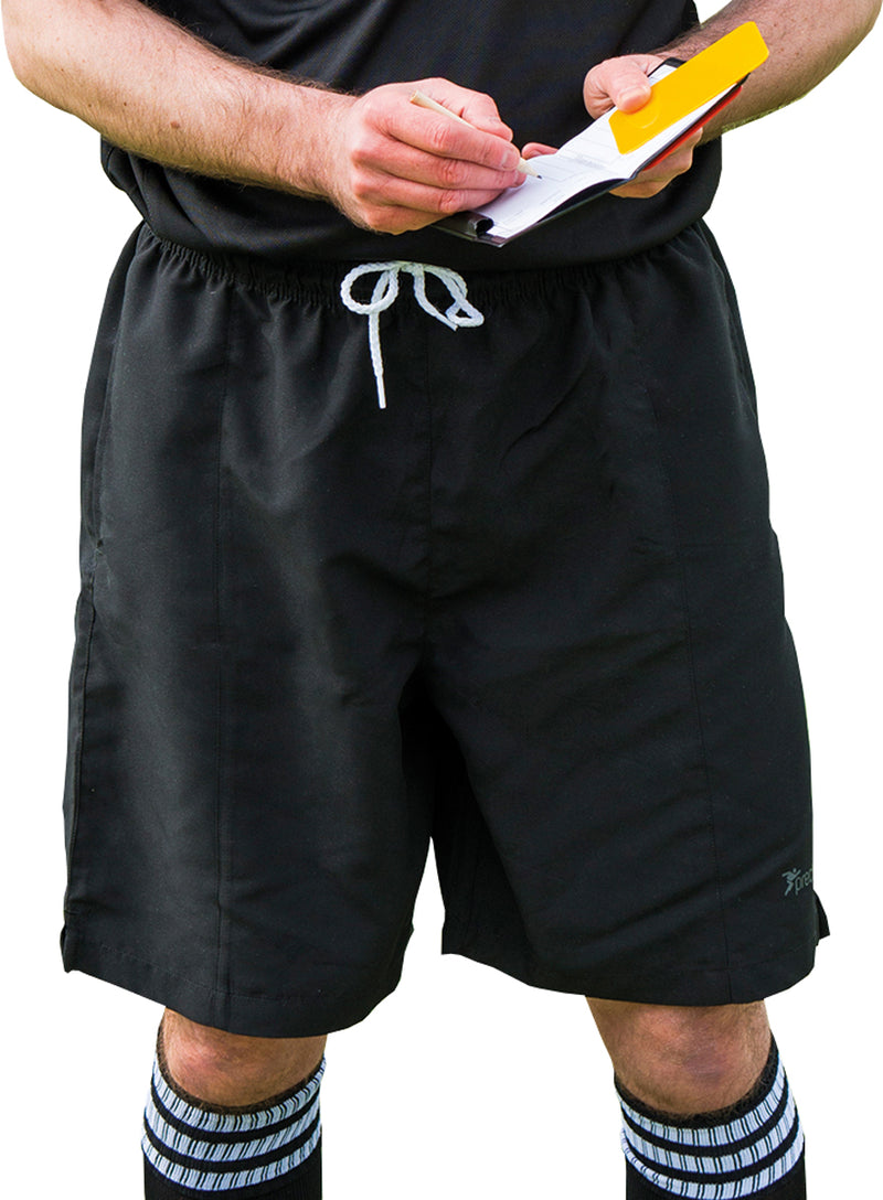 Precision Football Referee Shorts Black/White