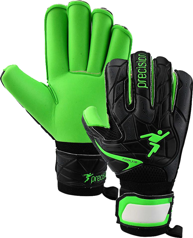 Precision Fusion_X.3D Junior Roll Protect Lime Football Goal Keeper Gloves