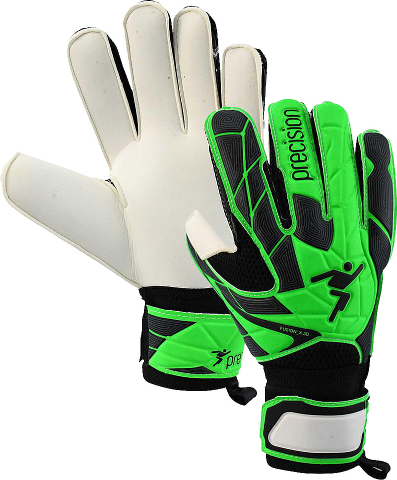 Precision Fusion_X.3D Junior Flat Cut Finger Protect Football Goal Keeper Gloves