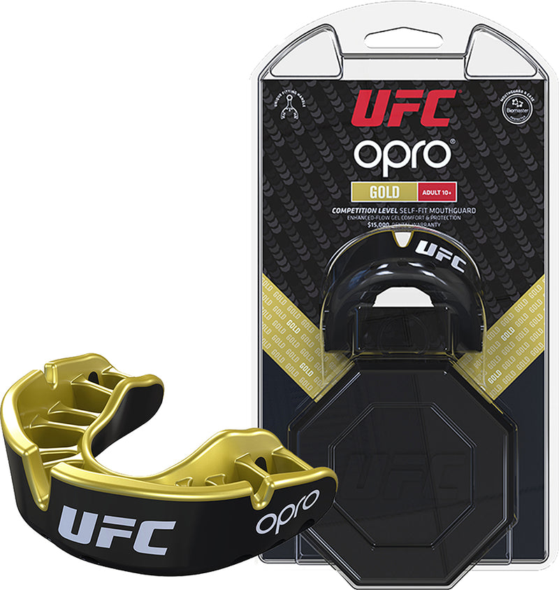 UFC Gold Boxing Mouthguard By Opro