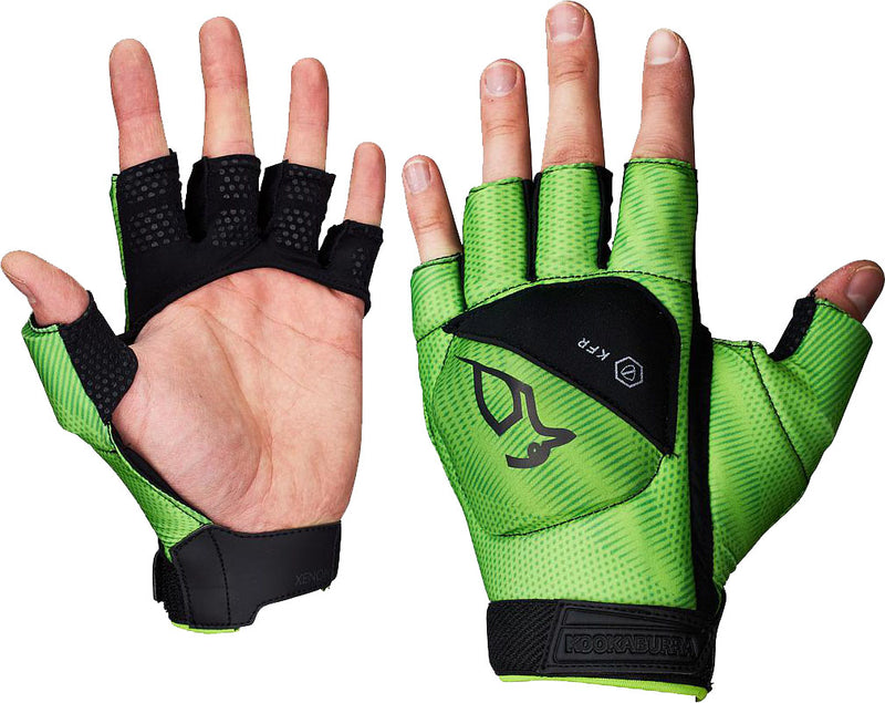 Kookaburra Xenon 1/2 Finger Hockey Hand Guard Black/Lime