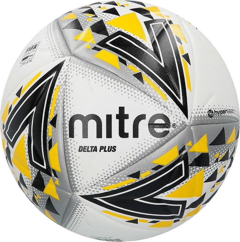 Mitre Delta Plus Professional Football Ball White/Black/Yellow